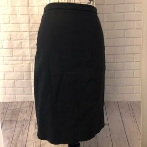 J. Crew black pencil skirt in twill style # A2080